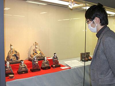 伝来の逸品 ひな人形一堂に 佐渡博物館で人形展