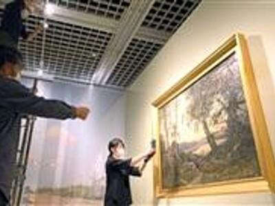 仏風景画の変遷に光 福井県立美術館