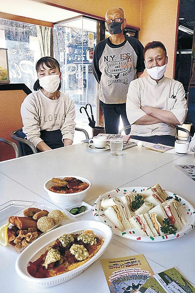 期間中に味わえるメニューを調理した加盟店主=加賀市山中温泉塚谷町