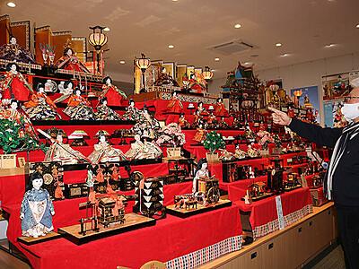 海老江のひな人形集合 住民提供の7飾り展示