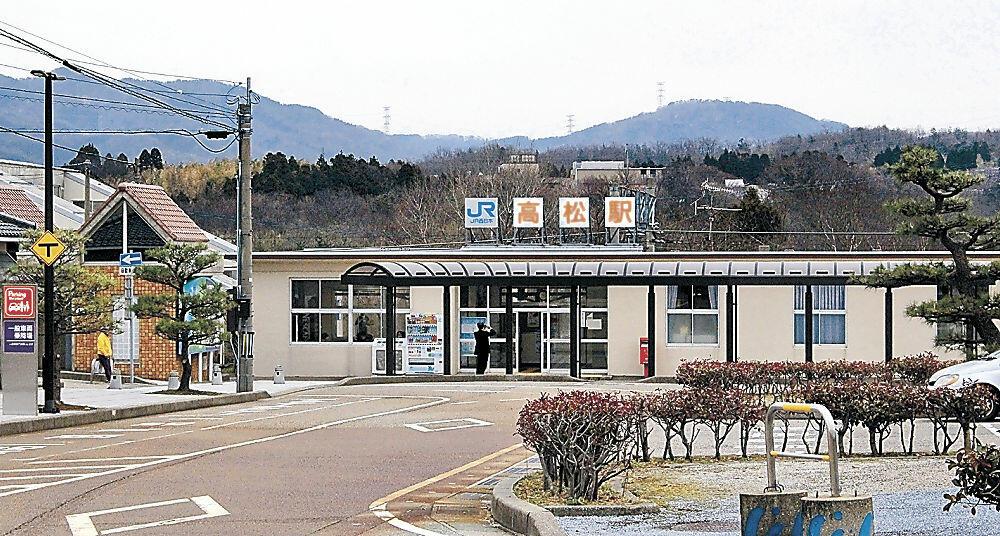 13日に無人化されるJR高松駅=かほく市内