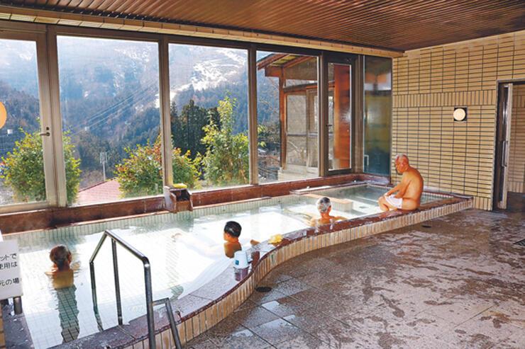 見晴らしの良い大浴場