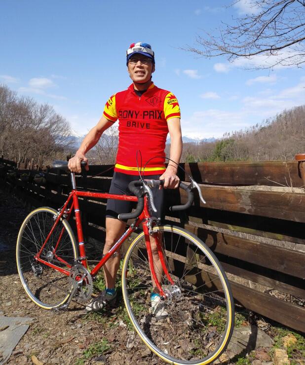 レトロな自転車で四賀地区などを巡る催しを企画している小峰さん