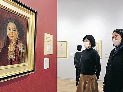 宮本三郎 未発表の美人画公開 小松の美術館