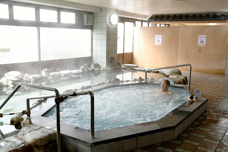 日帰り温泉が始まった天然温泉大浴場