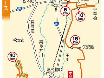 松本城の周りを1周 松本マラソン新コース