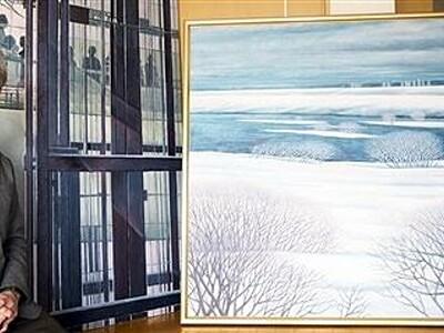 「青」で彩る大作70点 洋画家・清水さん 7日から個展