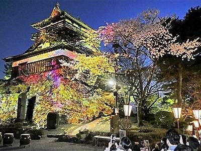 古城と桜の幻想世界 福井県坂井「丸岡城桜まつり」開幕