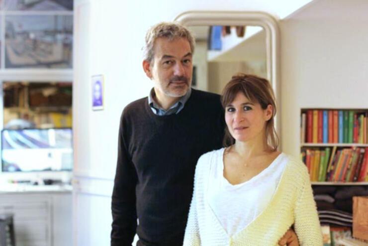 ゲオルグ・ハンスレーベンさん(左)とアン・グットマンさん夫妻(Photo by Tiphaine de Gésincourt)