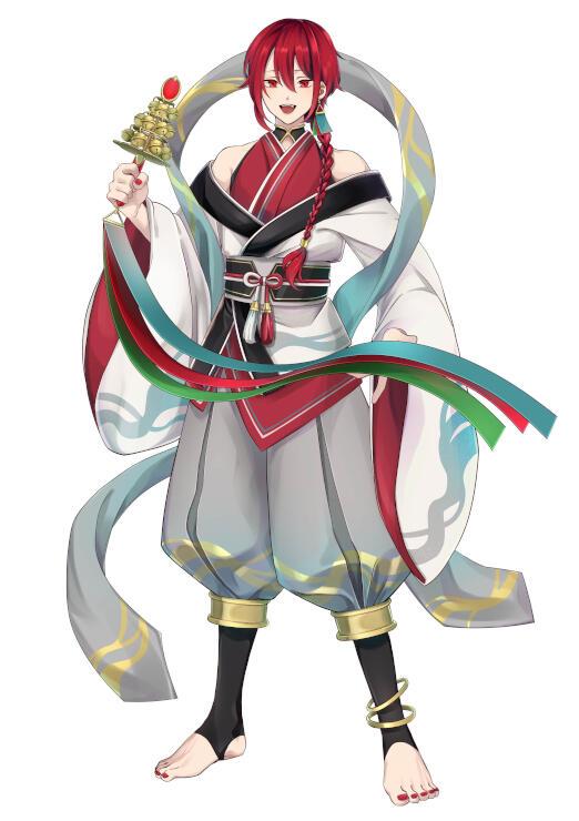 能生港灯台を擬人化したキャラクター(燈の守り人製作委員会提供)