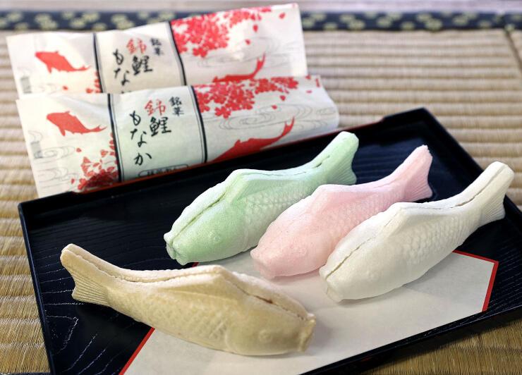 多彩な色と味がそろう澤田屋の「錦鯉もなか」