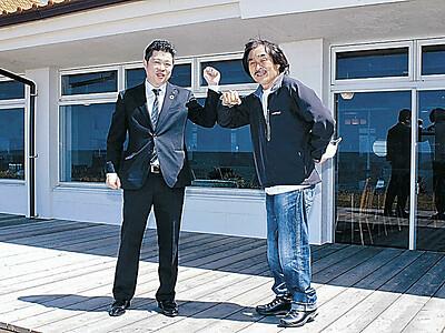 ライダー拠点のカフェ 能登千里浜レストハウス SSTR主催者と協定