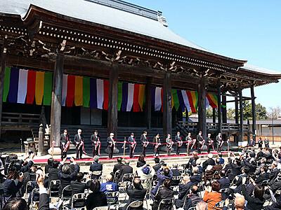 伏木の宝 未来へつなぐ 勝興寺「平成の大修理」完工