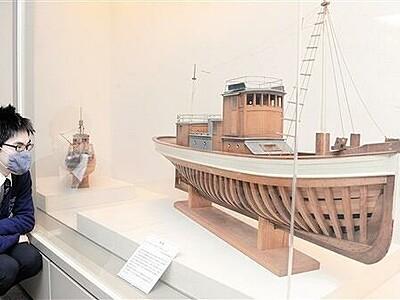 造船支えた大工・故胡間さん作 船模型で知る高浜の往時