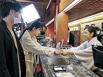 小松・粟津温泉ロケ開始 いしかわ短編映画3作目