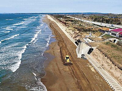 千里浜、125日ぶり全線開通 16日規制解除