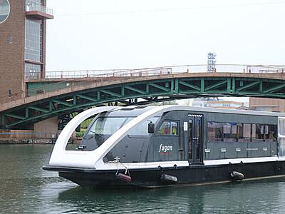 県都で運河クルーズ 富岩水上ライン運航開始