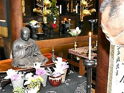 室町期仏師作の弘法大師坐像を公開 朝日観音福通寺