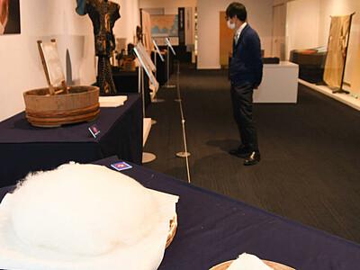 「玉繭」無駄なく真綿や着物に 先人の技術、岡谷で紹介
