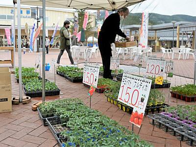 山菜に野菜、2年ぶり「春祭り」 道の駅あおき