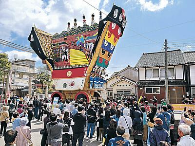 七尾・青柏祭 でか山2年ぶり展示