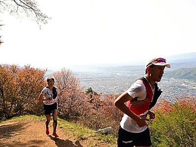 太郎山を駆け登れ! 計600人余 タイム競う
