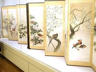 鳥の画家作品たどる 越前市で土岡春郊企画展