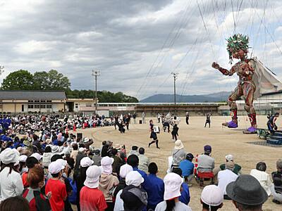 「モッコ、行ってらっしゃい」高森で壮行会 15日から東北巡回