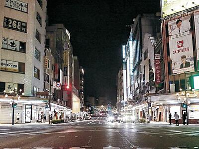 金沢の歓楽街、閑散 夜8時までの時短営業開始 県、飲食店以外にも協力依頼
