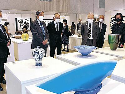 60周年ことほぐ意欲作 小松美術展が開幕 地元作家、6部門に94点