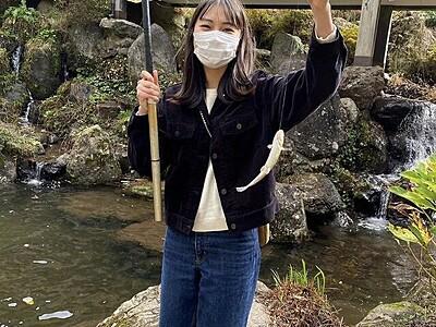 池田町、道具必要なく魚釣り体験 「天池の宿」の釣り堀、釣った魚が食べられる!【ふくジェンヌ】