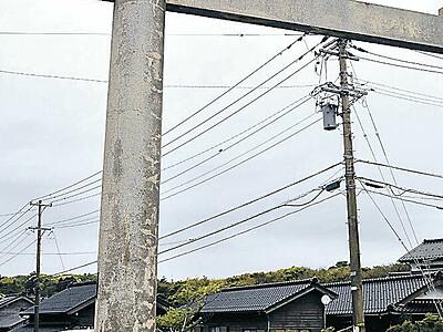 羽咋・気多大社 「一の鳥居」が解体へ