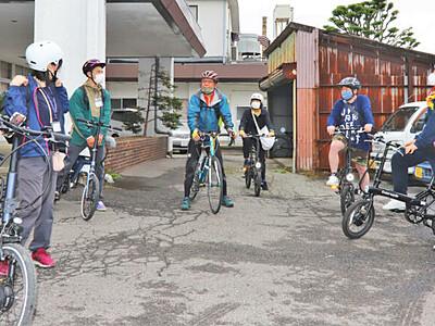 自転車で探る地域の魅力 辰野でガイド養成講座