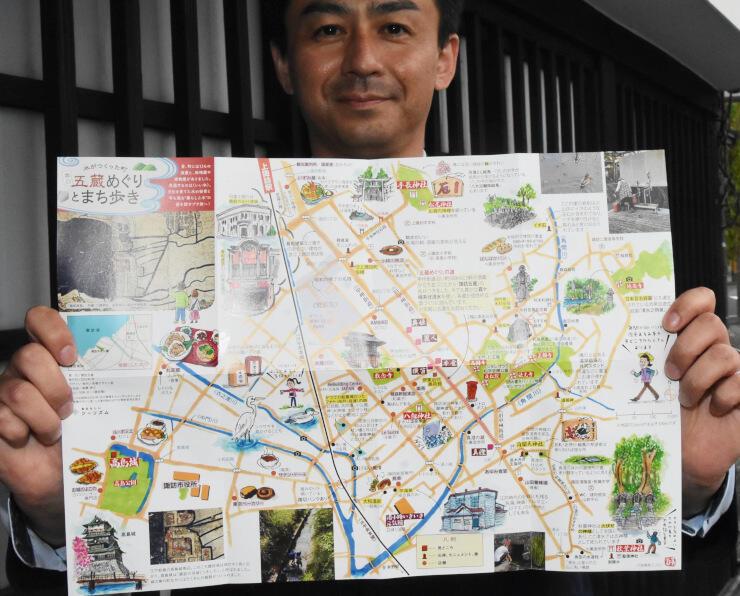 諏訪五蔵などを紹介するまち歩きマップ