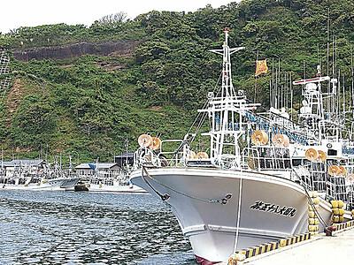 スルメ漁本格化 鹿磯漁港、全国から漁船