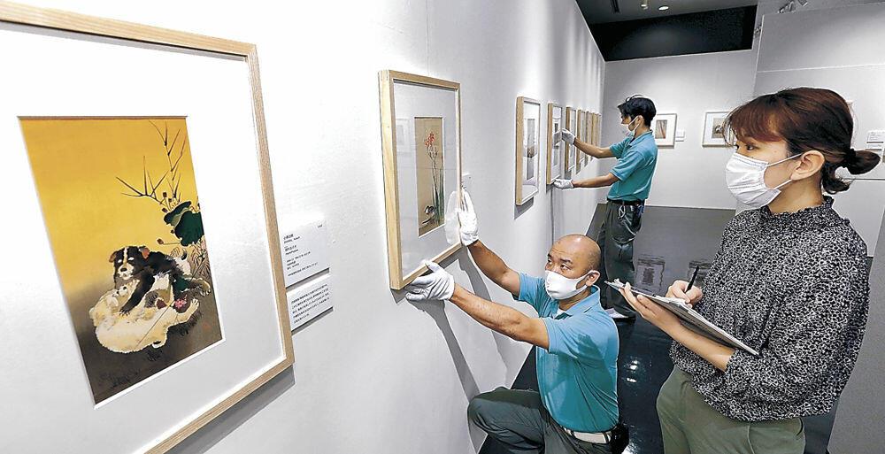 後期の開幕に向けて、展示が一新された会場=石川県立歴史博物館