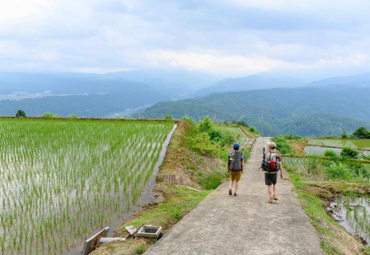 天水山から森宮野原駅に続く「信越トレイル」の延伸ルート