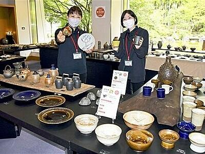 越前焼窯元の販売助けます まつり中止で陶芸館などが事業