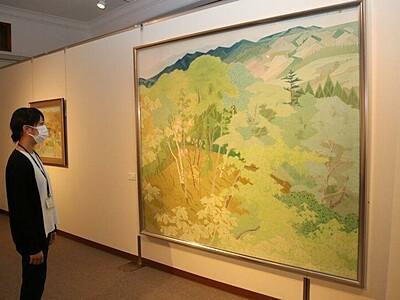 生誕100周年 諏訪で日本画家戸田祐暉の特集展示会