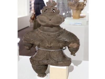 遮光器土偶 見て触って 新潟で初披露 十日町市博物館
