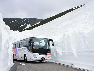 まだ楽しめる乗鞍の銀世界 「春山バス」大雪渓まで延長へ