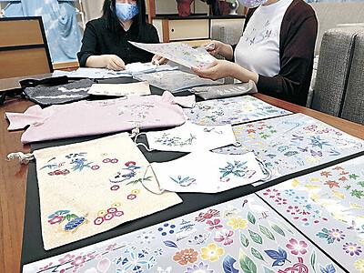 加賀友禅の模様、手軽にペタッ 金沢市内事業者が熱転写シート考案
