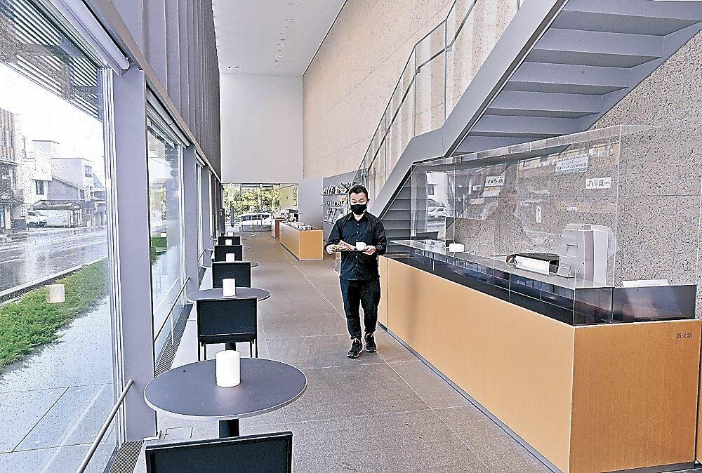 百年珈琲合同会社が15日にオープンするカフェ=谷口吉郎・吉生記念金沢建築館