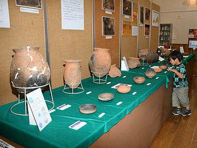本物の土器、見て触ってごらん 中野市立博物館