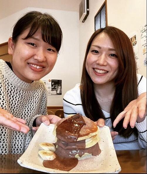 「ごはんcafeしなもん」のヘルシーなホットケーキ=福井県敦賀市