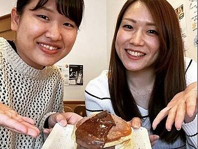 卵不使用ホットケーキをヘルシーな豆腐のチョコソースで ランチも充実、敦賀市の「ごはんcafeしなもん」【ふくジェンヌ】