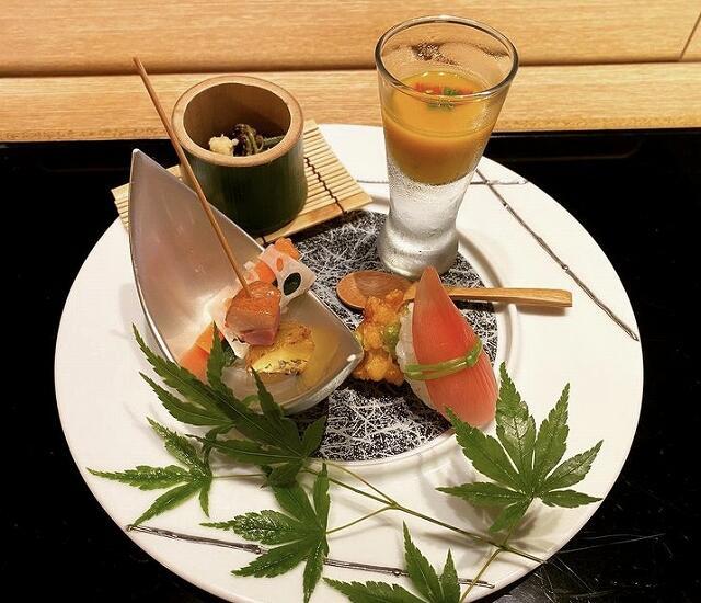 和食個室ダイニング「柳月亭」のコース料理の一品=福井県福井市順化2丁目