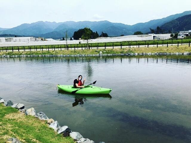 福井県大野市の道の駅「越前おおの荒島の郷」ではカヤック体験もできる