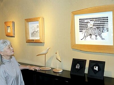 線画と銀細工、夫婦で作品展 福井市のギャラリーサライで開催