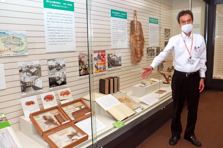 70年の歴史を振り返る特別展を開いている長岡市科学博物館=長岡市幸町2